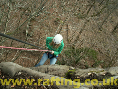 Abseiling Aberfeldy Scotland with Splash Rafting   http://www.rafting.co.uk