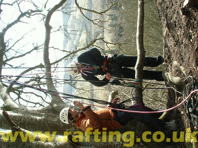 Abseiling Aberfeldy Scotland with Splash Rafting   http://www.rafting.co.uk