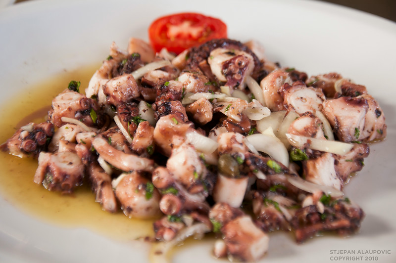 Squid in Hvar