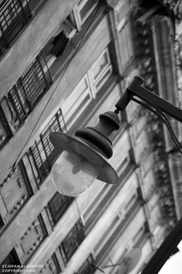 Streel Lamp in Bucharest
