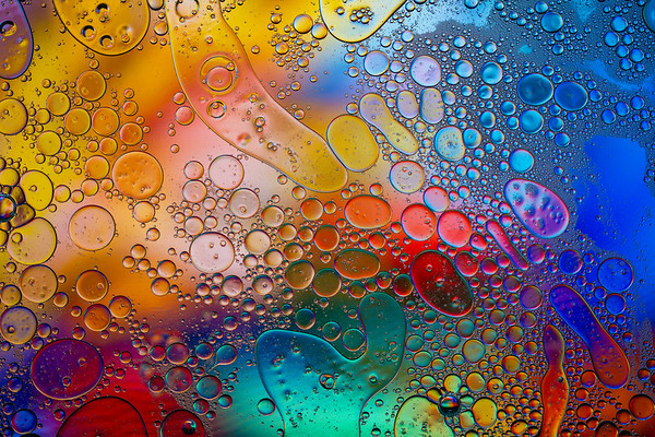Oil  and water rainbow  - horizontal