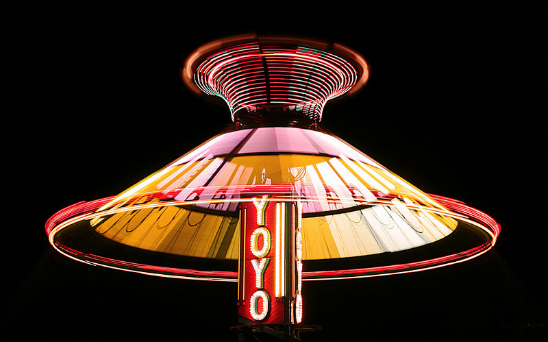 The Yoyo swings ride at the Coffee County Fair