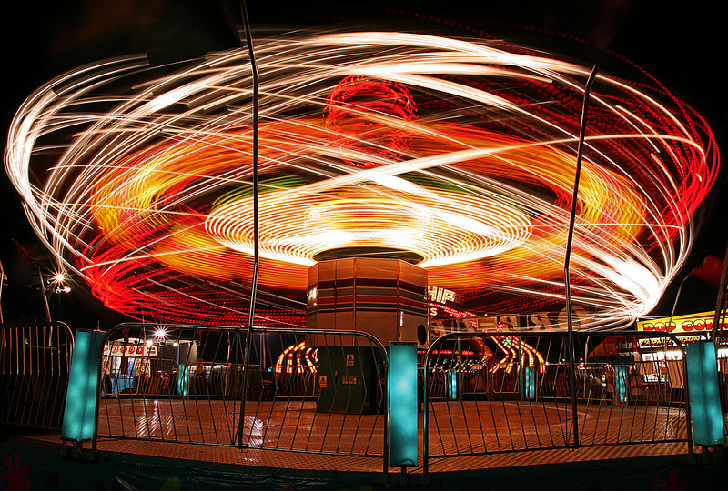 Atom Splitter - Long exposure of a ride at the Coffee County Fair, Manchester, TN.