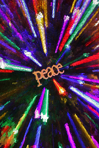 Peace Ornament - An ornament on our Christmas tree at home.