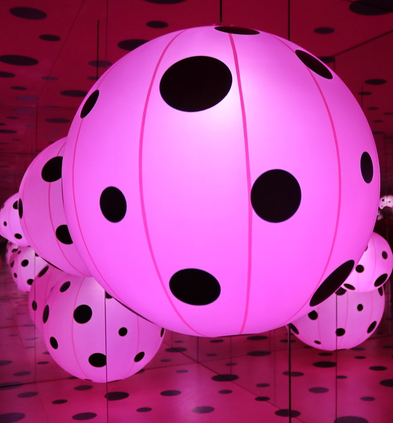 Pink Balls with Black Dots