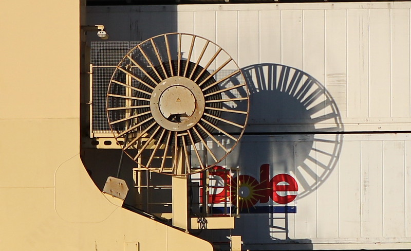 Wheel on Dole Cargo Ship