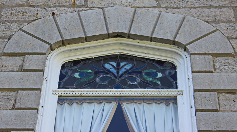 Blue Stained Glass Window Exterior