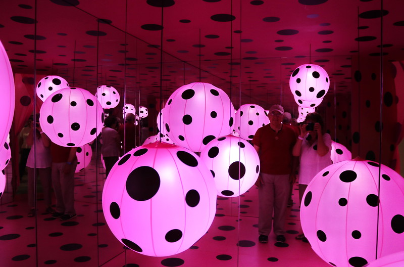 Pink Balls and Black Circles