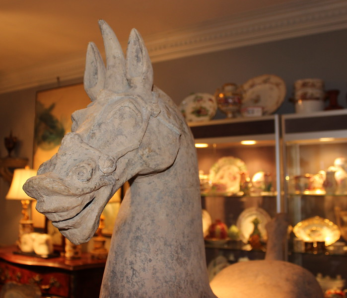 Pottery Horse/Unicorn Head