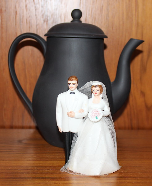 Wedding Cake Topper and Wedgwood Coffee Pot