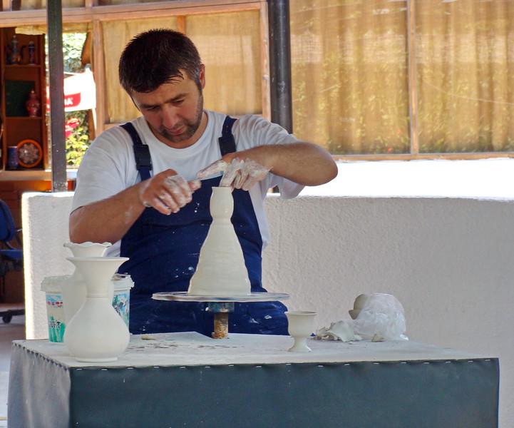 Potter Creates a Vase