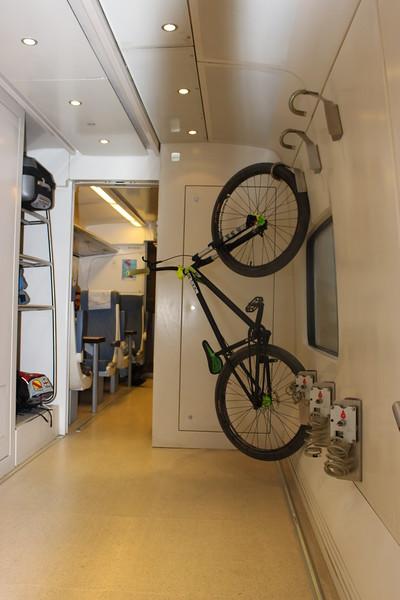 Bicycle Rack on theTrain