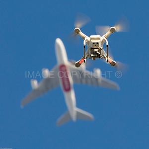 Drone versus Passenger Jet