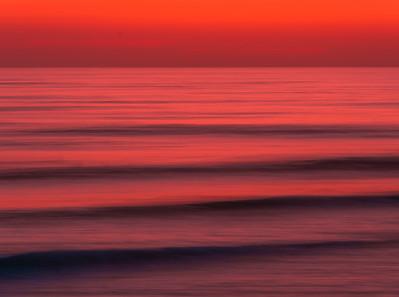 Crimson Tide: Malibu Beach Abstract Ocean Art  Elliot McGucken Fuji GFX100 Fine Art Landscape Nature Photography