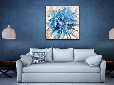 """""""Untiltled"""" acrylic and resin on canvas - Sold"""