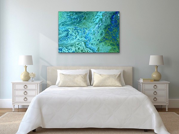 """""""Tidepool"""" acrylic and resin on wood - Sold"""