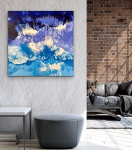 """""""Before the Storm"""" acrylic and resin on canvas"""