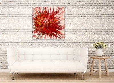 """""""Phoenix"""" acrylic and resin on canvas - Sold"""