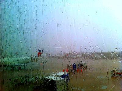 Rainy  Humid Airport Day