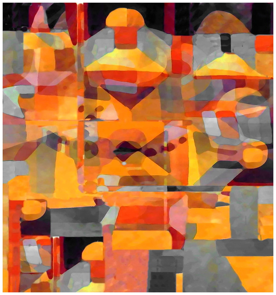 Temple Garden #1 (Homage to Klee)