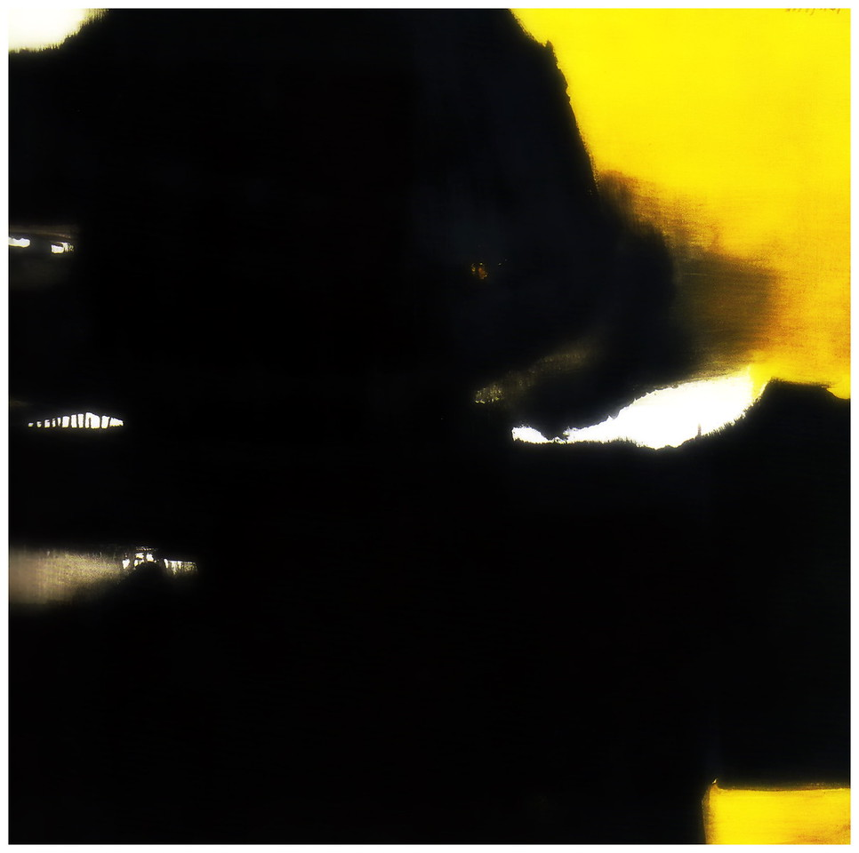 Composition in Black and Yellow