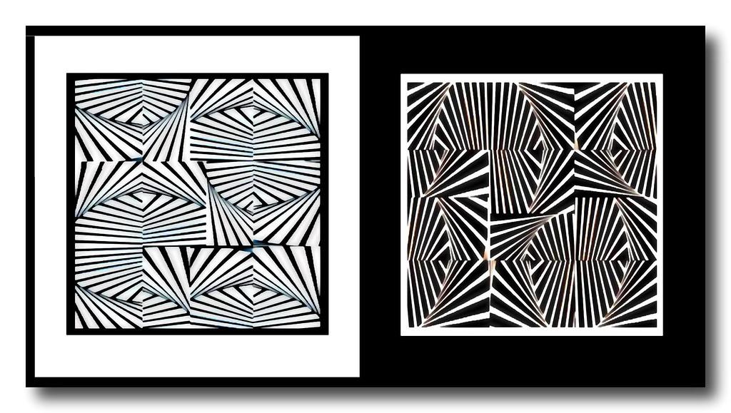 Op Art Ying-Yang Diptych #1