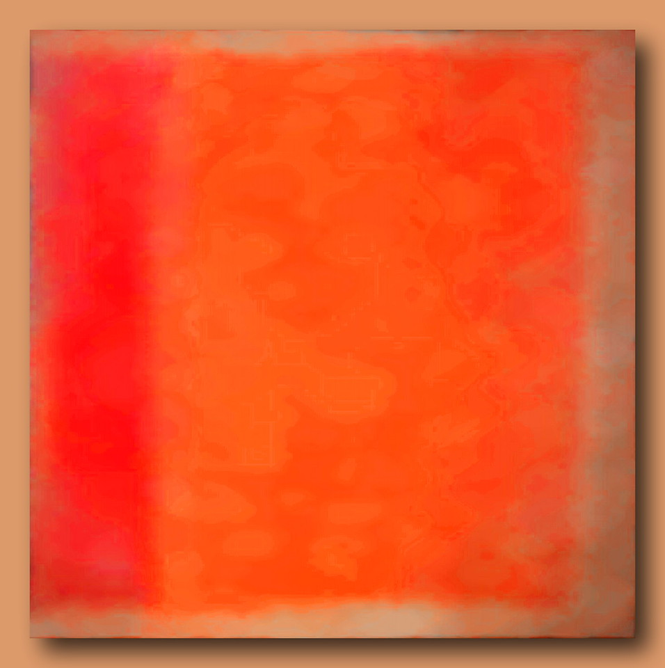 Study in Red and Orange #1 (Homage to Rothko)