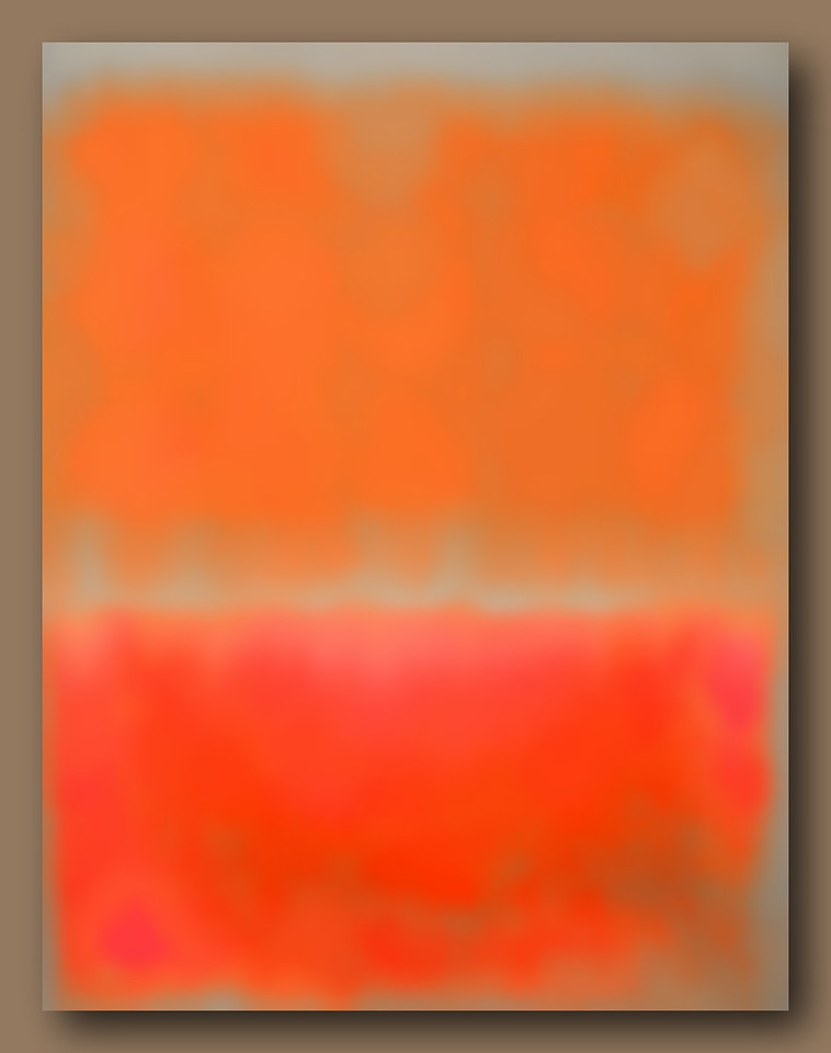 Study in Red and Orange #2 (Homage to Rothko)