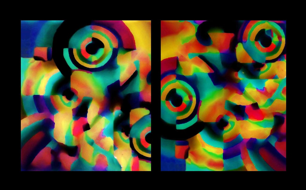 Orphic Circles Diptych #2