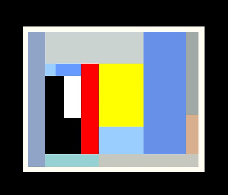 Linear Colour Study (Homage to Ben Nicholson)