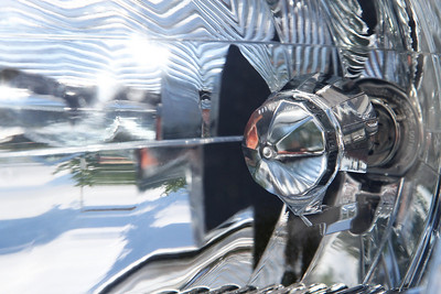 Another abstract. Any guesses?  It's your car's headlight! Smooth, shiny and octagonal.