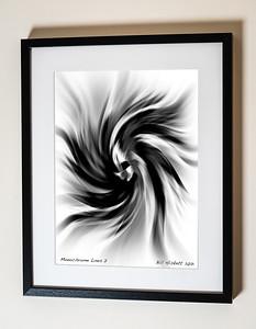 Monochrome Lines 2 Framed(C) Bill Hiskett