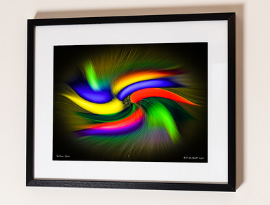 Yellow Spin Sig Framed