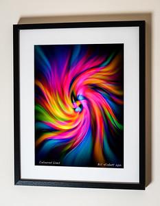 Coloured Lines Framed(C) Bill Hiskett