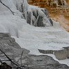 Yellowstone Mammoth Hot Springs abstract
