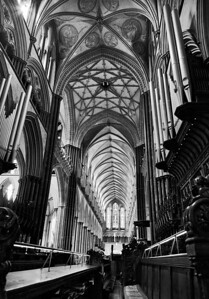 Salisbury Cathedral choir and nave
