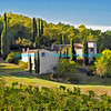House and grapevines in Tuscany 2