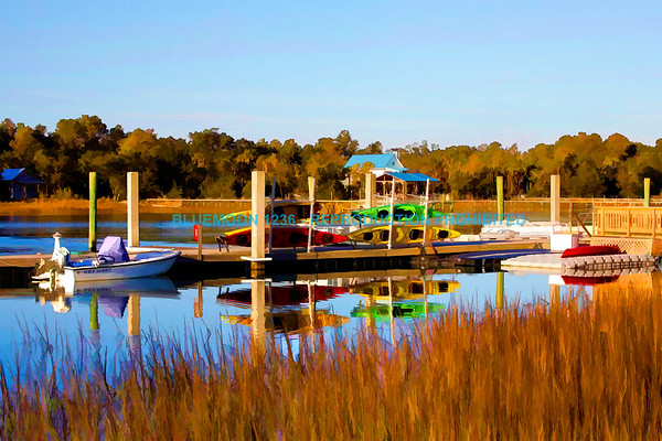 Marsh At Isle Of Palms Marina - Abstract