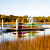Marsh At Isle Of Palms Marina - finger painting