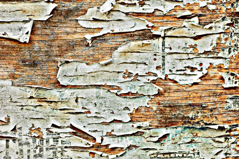 remnants of an old billboard, The Lyric Theater, Birmingham, Alabama