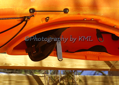 Upside Down Orange Kayak