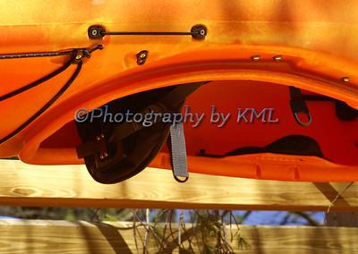 Upside Down Orange Kayak