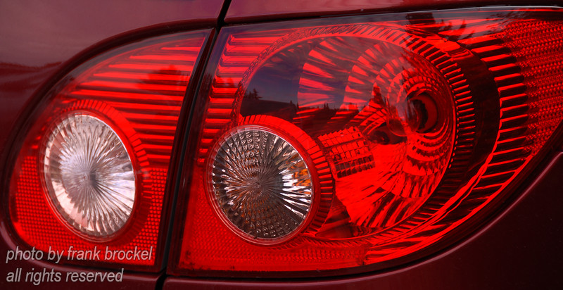 Lines, Angles and Curves of a tail light