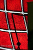 Shadows playing on stained glass