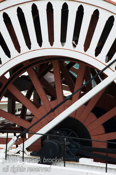 The wheel of the stern wheeler SS Moyie, Kaslo, B.C.