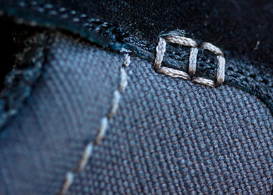 January 5, 2012 - A close up of some stitching on my new slippers.