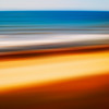 Motion Abstract #7 - CA Coastline at 30 mph, USA