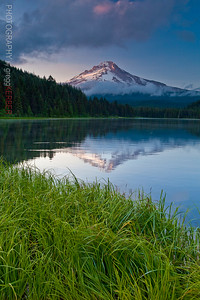 Mt. Hood reflected on Trillium Lake