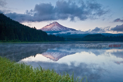 Mt. Hood reflected in Trillium Lake