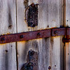 Barn door hinge, Park City, Utah.